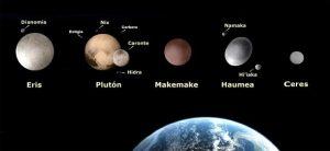 Tamaño de los planetas enanos