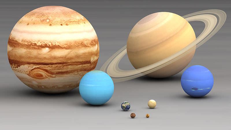 ¿Cuánto miden los planetas?