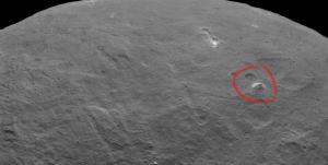 Pirámide en el planeta Ceres