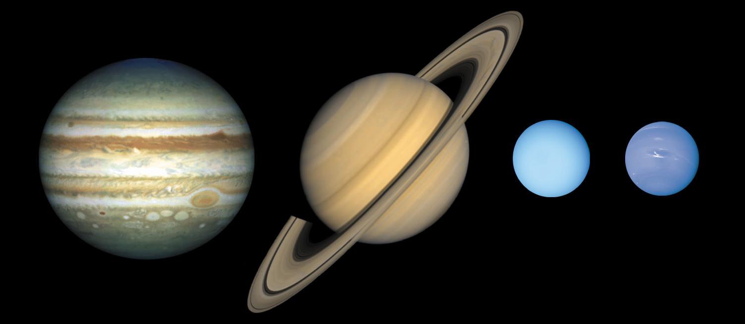 Planetas gaseosos o jovianos.