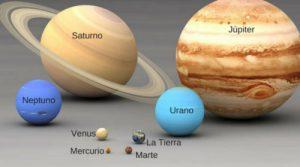 tamaño de los planetas por orden