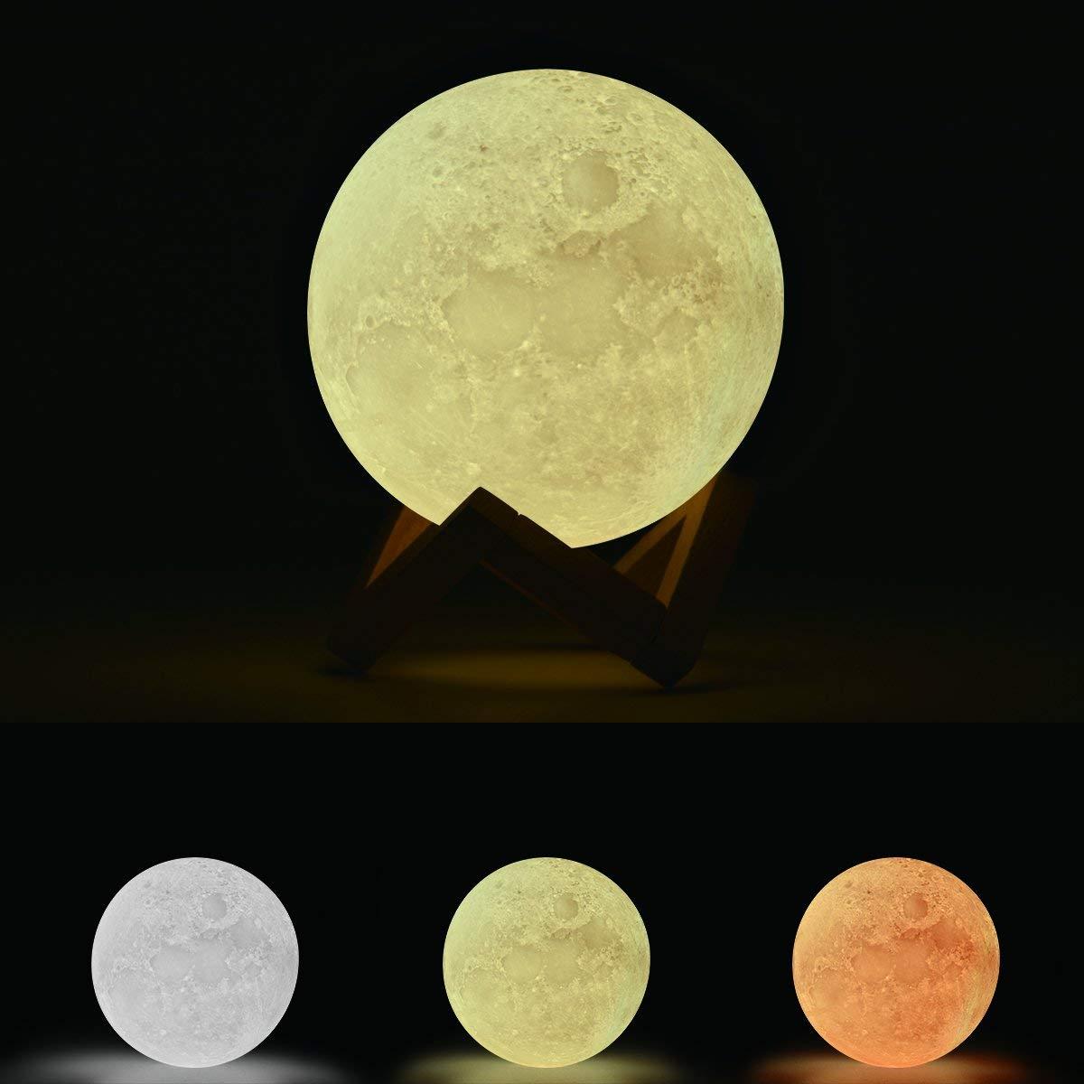 efikeko 3d lampara luna