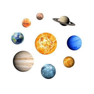 Vinilos flurorescentes de planetas