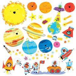 vinilos pegatinas planetas para bebes