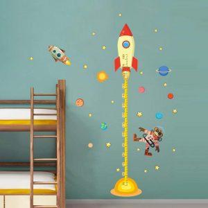 decoración cohete grafica altura vinilo