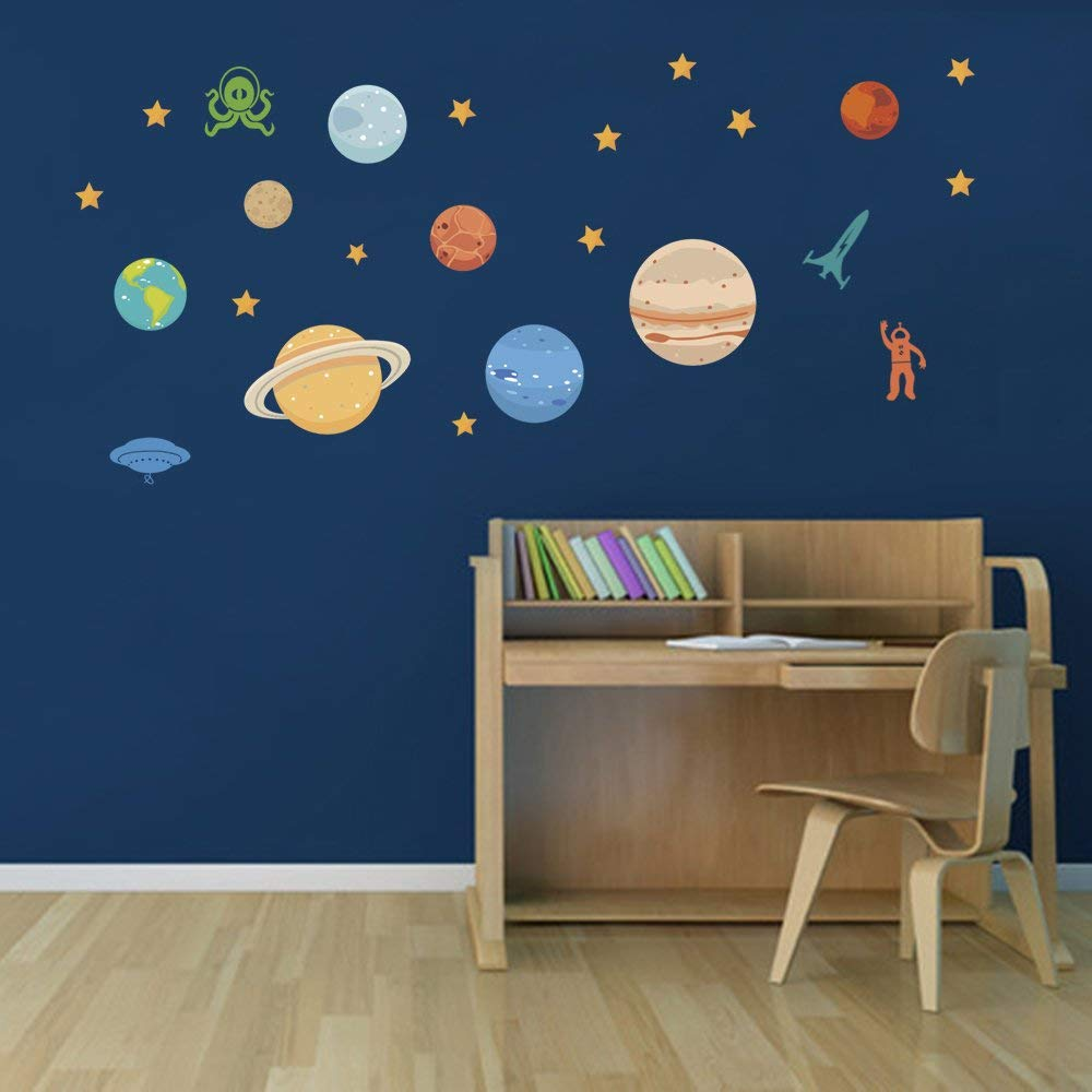 vinilos de planetas para niños