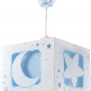 Lámpara Colgante Luna y Estrellas Azul