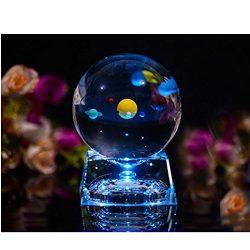 lampara bola cristal sistema solar