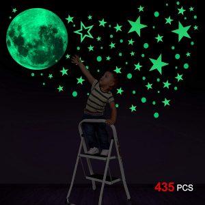 Luna y estrellas Fluorescentes