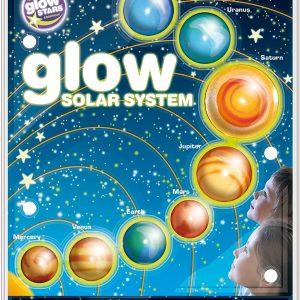 Planetas 3d brillan en la oscuridad